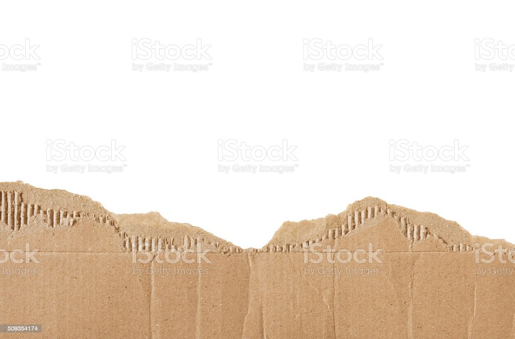Torn Cardboard Border (with path) stock photo