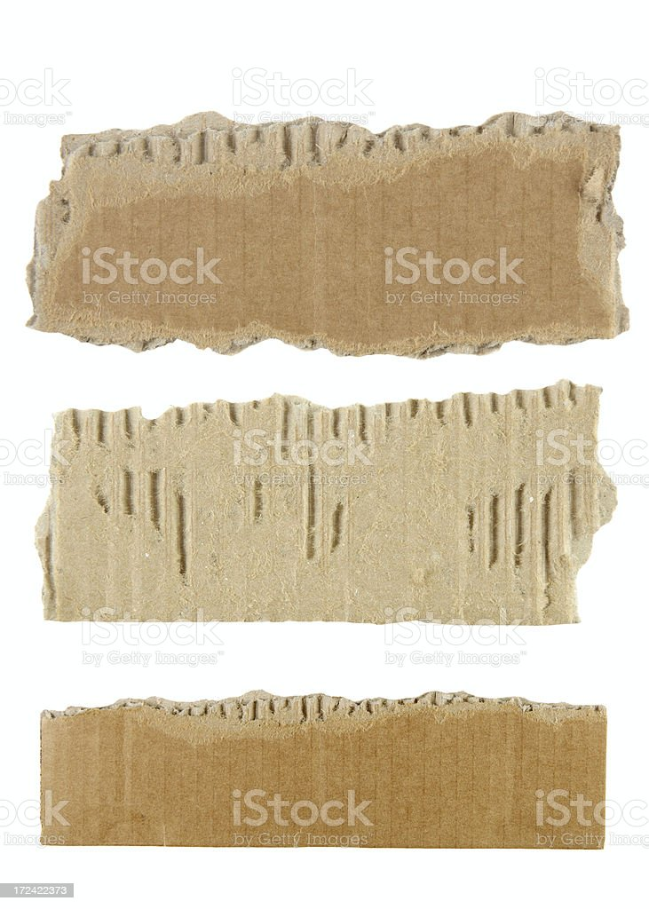 Torn cardboard royalty-free stock photo