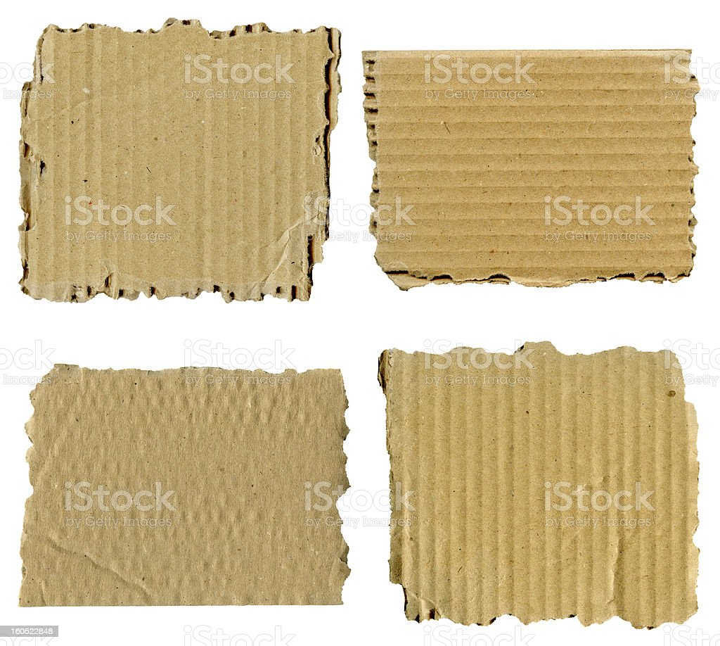 Torn cardboard set royalty-free stock photo