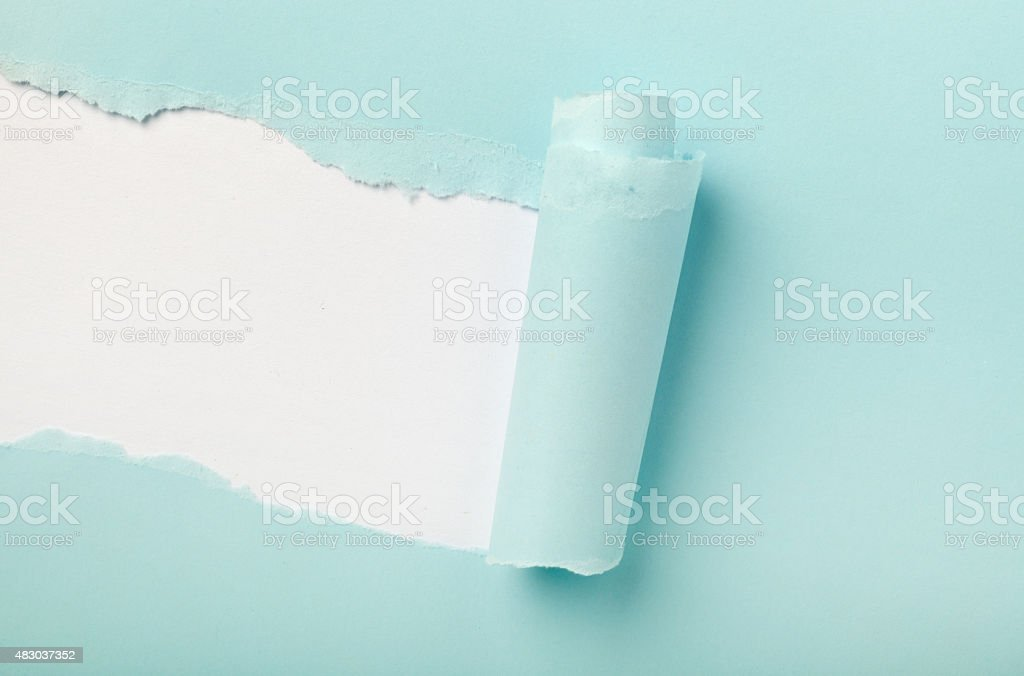 Torn colored paper stock photo