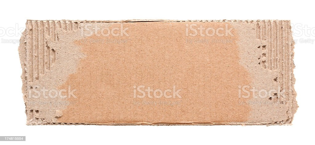 Torn corrugated cardboard textured background royalty-free stock photo
