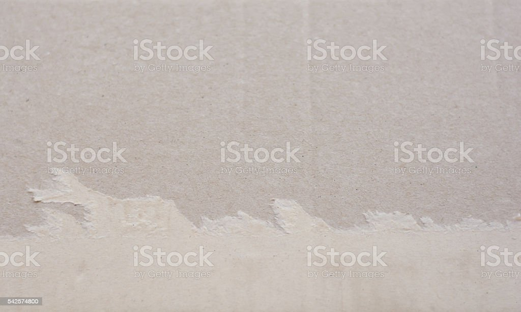 Torn corrugated fiberboard stock photo
