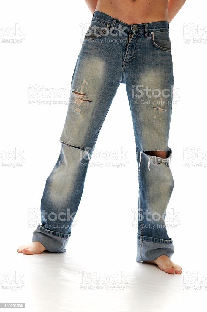 torn jeans royalty-free stock photo