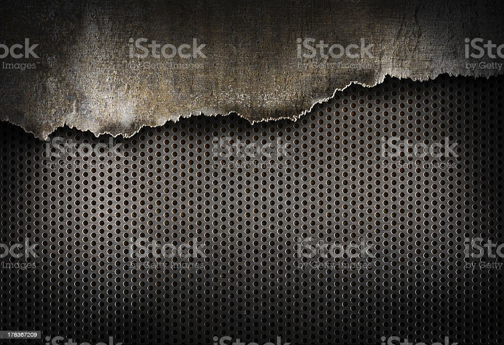 torn metal background royalty-free stock photo