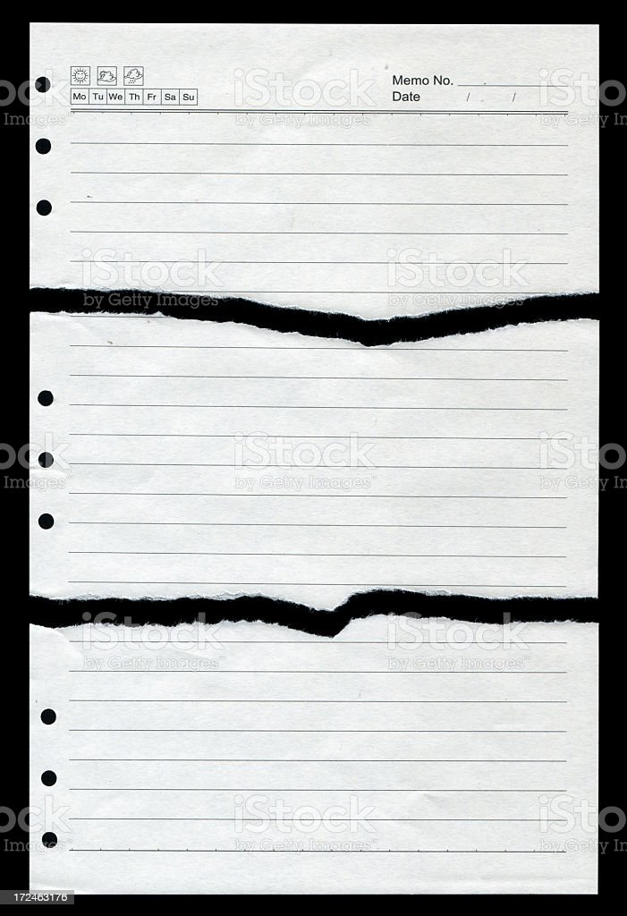 Torn Notebook Page royalty-free stock photo