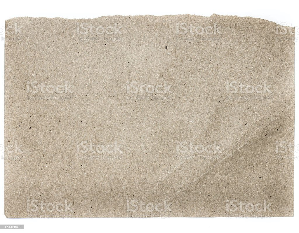 Torn Notepaper recycled natural paper cardstock texture royalty-free stock photo