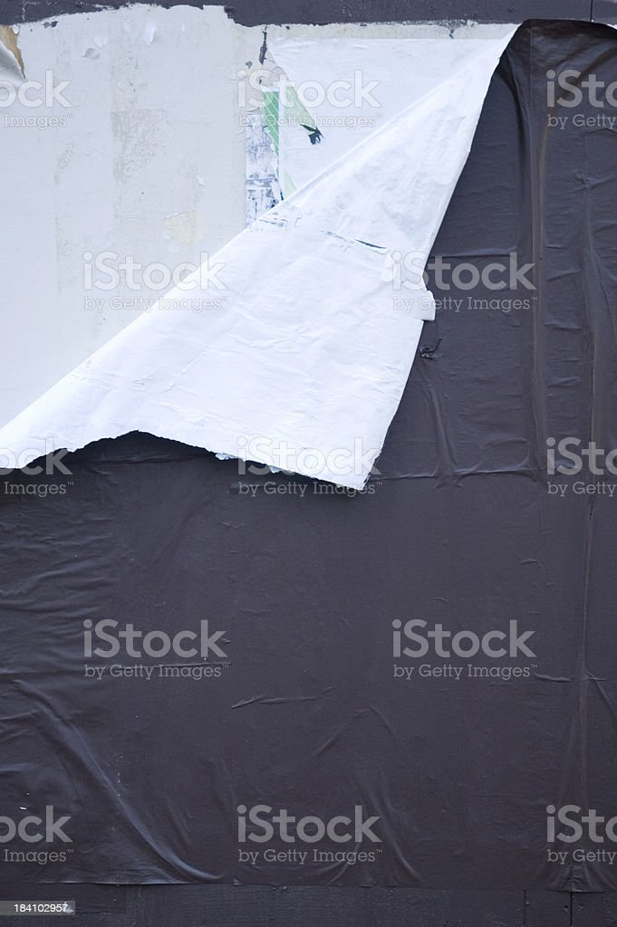 Torn notice board stock photo