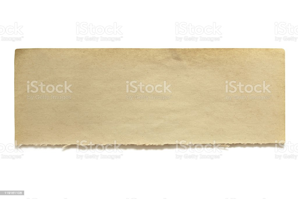 Torn Old Notepaper Banner stock photo