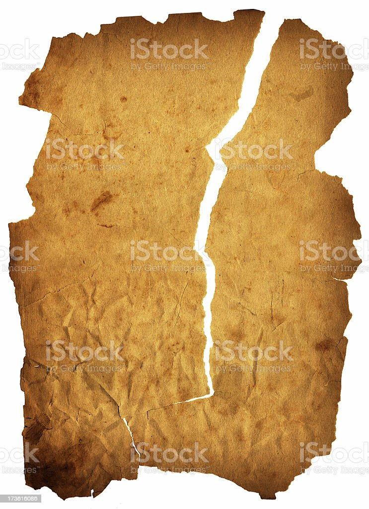 torn old paper royalty-free stock photo