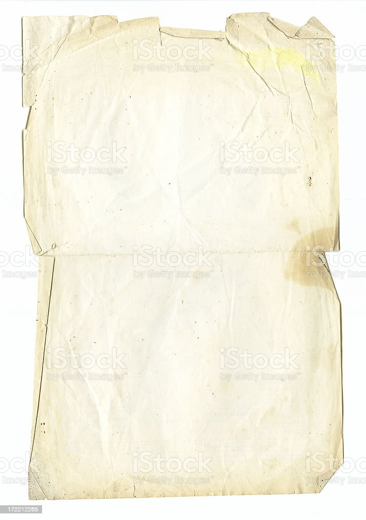 Torn Page royalty-free stock photo
