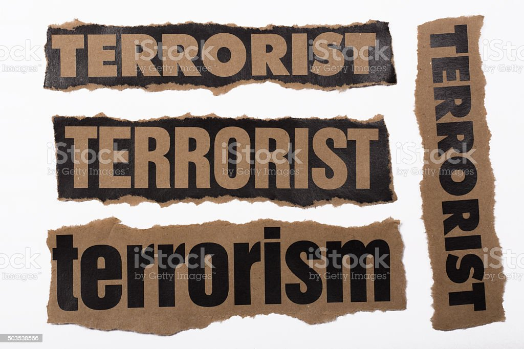 torn paper and terror stock photo
