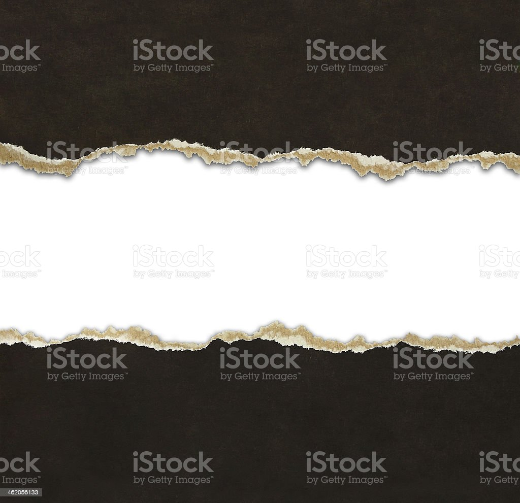 Torn paper borders stock photo