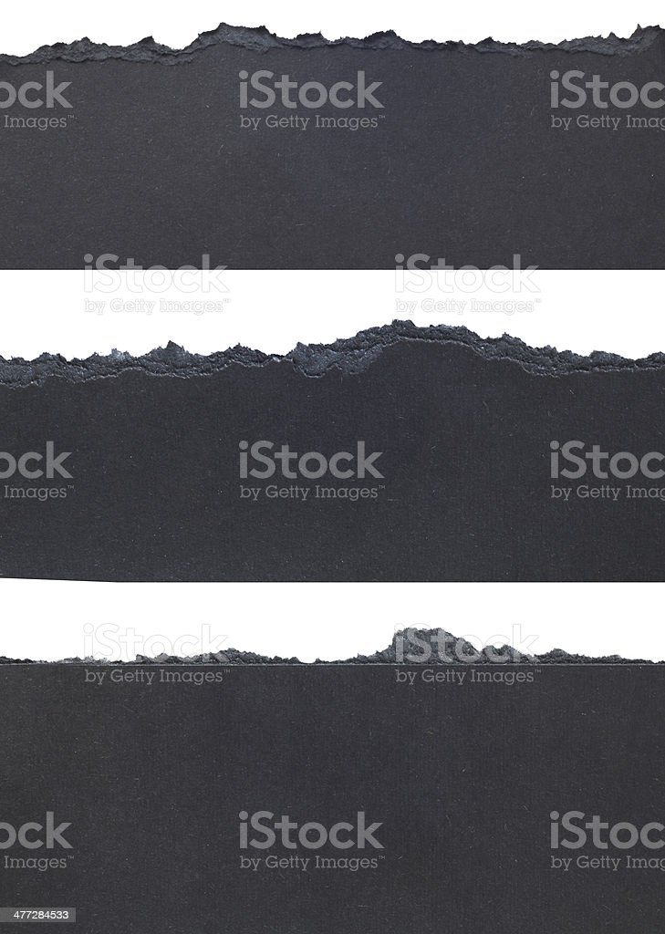 Torn Paper Borders stock photo