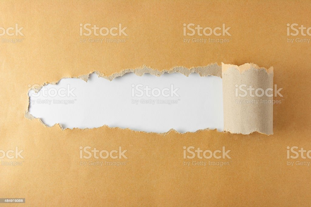 Torn Paper Concept stock photo