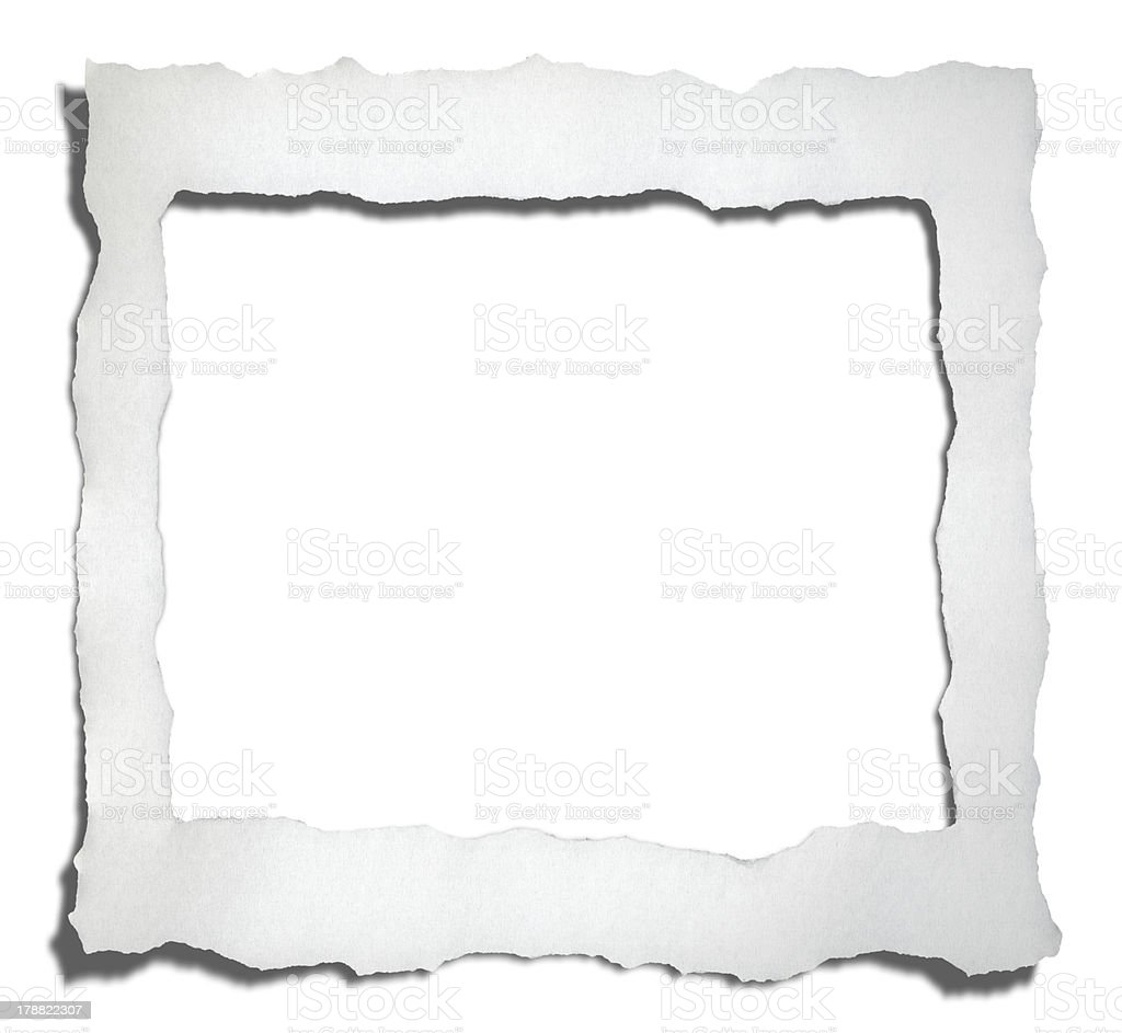 Torn Paper Frame royalty-free stock photo