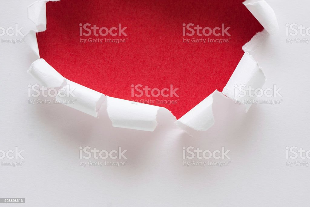 Torn paper hole background textured stock photo
