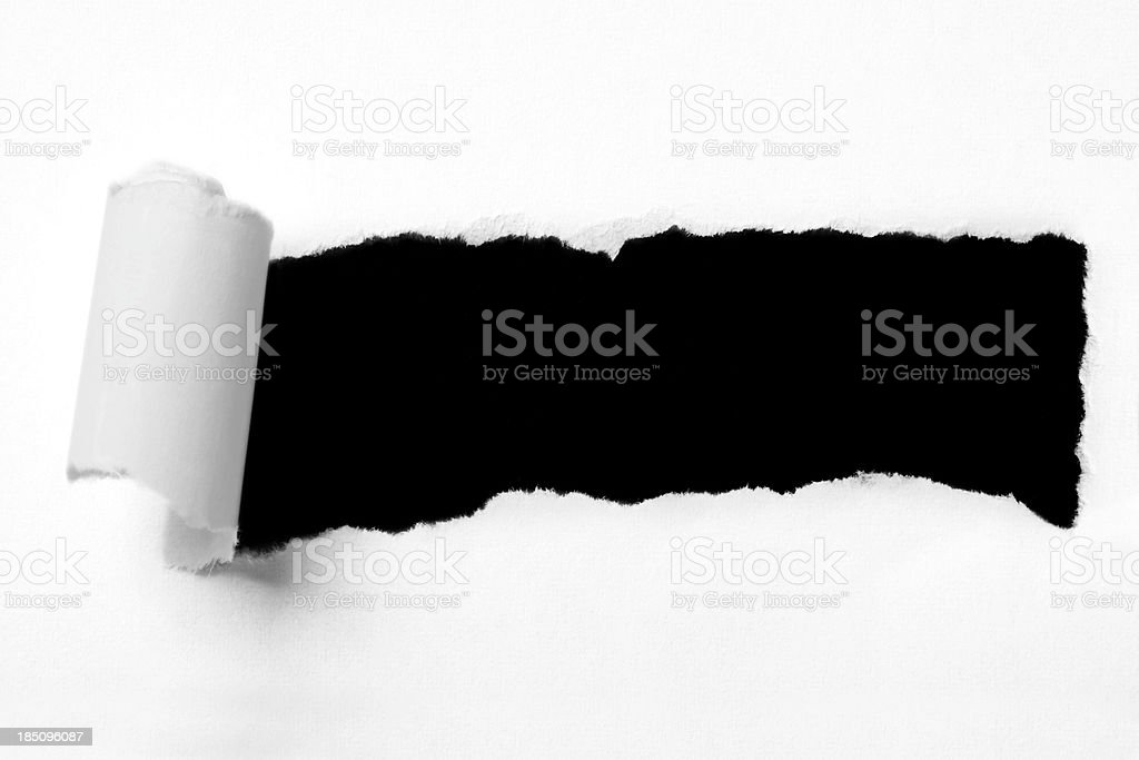 Torn paper hole royalty-free stock photo