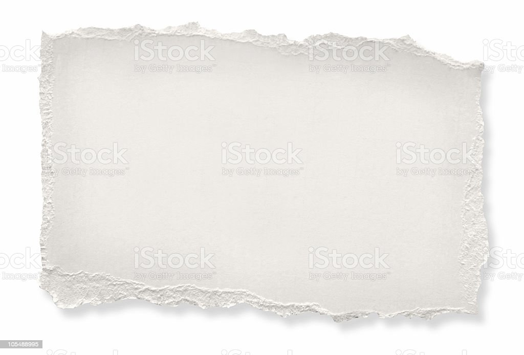 Torn Paper (with Path) royalty-free stock photo