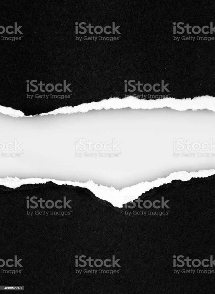 Torn paper stock photo