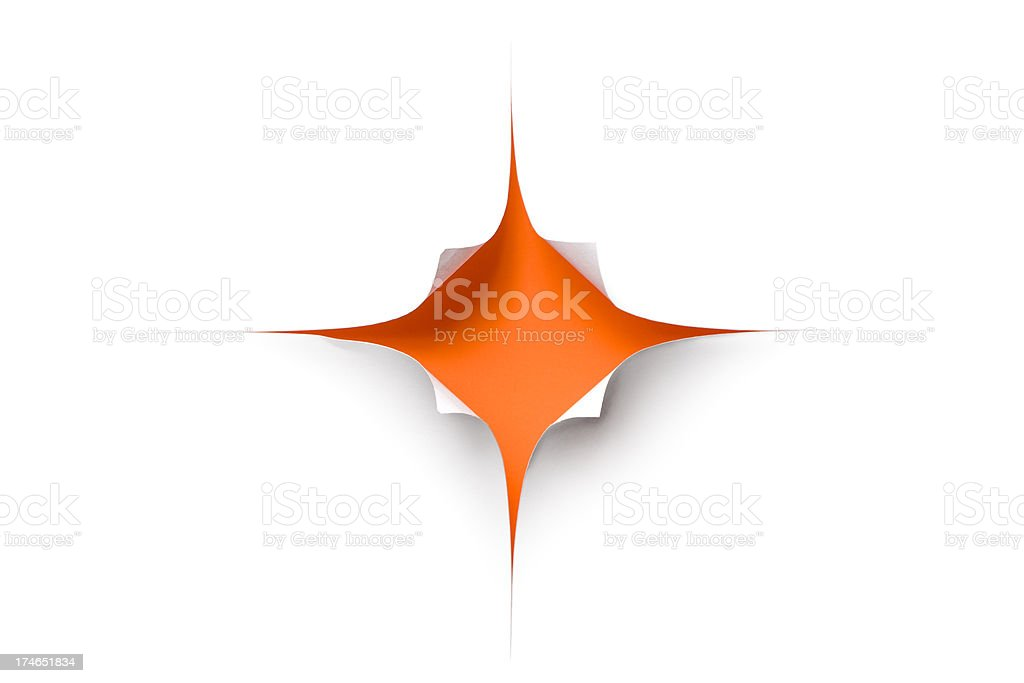 Torn paper star shape royalty-free stock photo