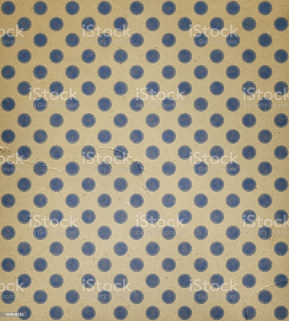 torn paper with blue dots royalty-free stock photo