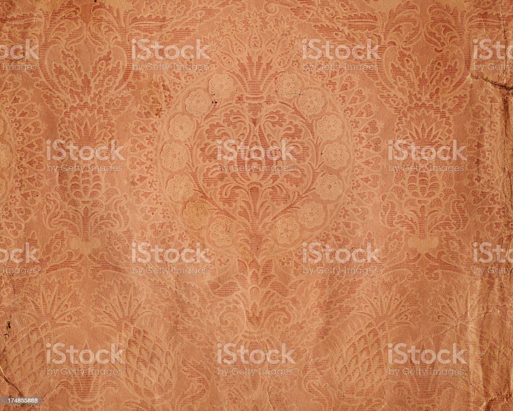 torn paper with floral ornament royalty-free stock photo