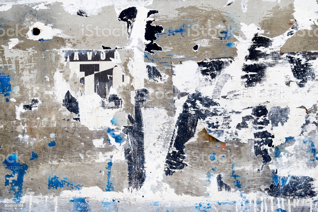 Torn paper with graffiti stock photo