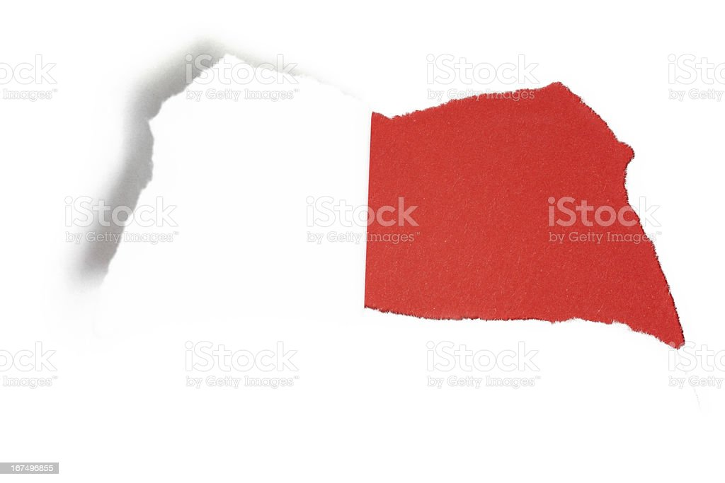 torn paper with hole stock photo