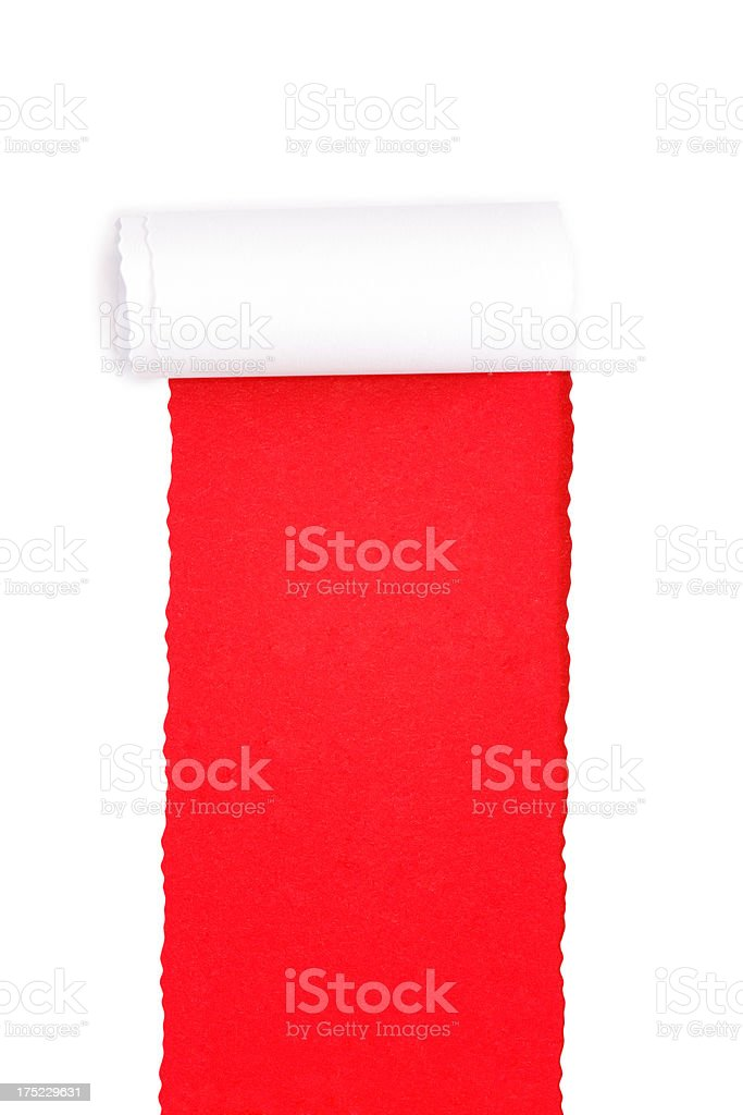torn paper with hole royalty-free stock photo