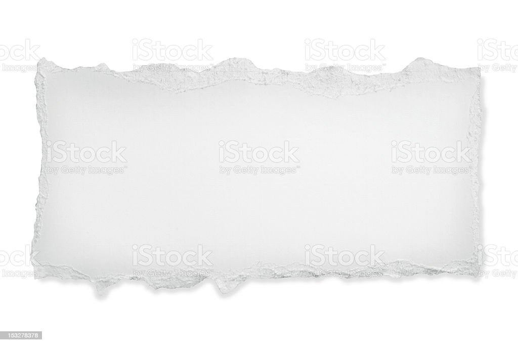 Torn Paper with Path royalty-free stock photo