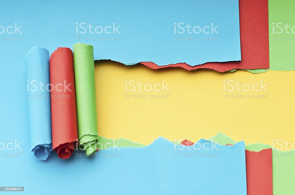 Torn paper with space for your message royalty-free stock photo