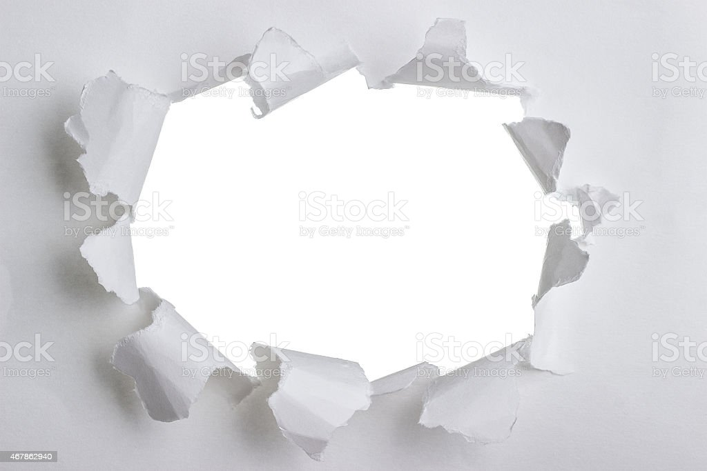 Torn paper with space for your message stock photo