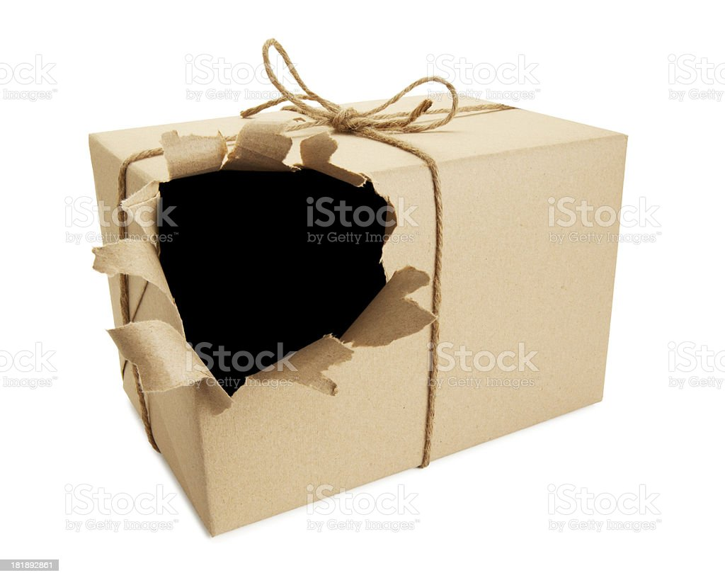 torn parcel royalty-free stock photo