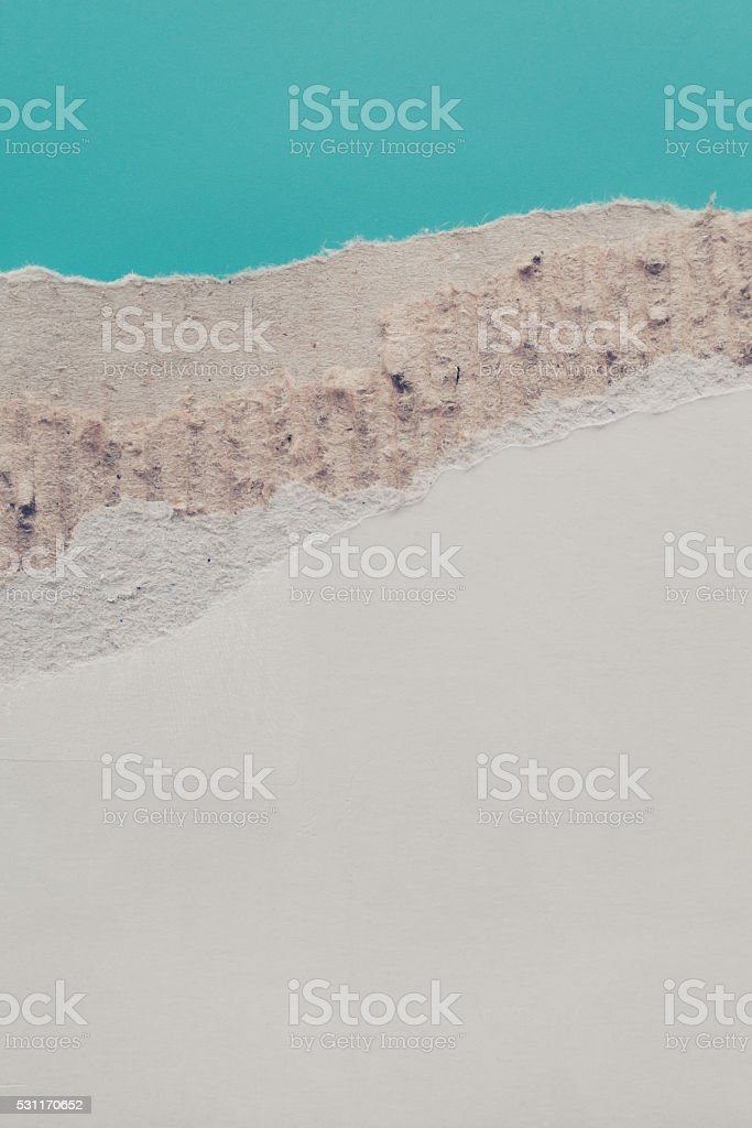 torn piece of cardboard. stock photo