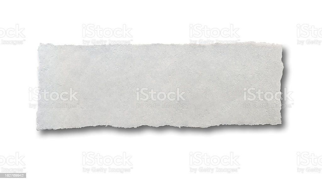 Torn Piece of Frozen Tissue Paper stock photo