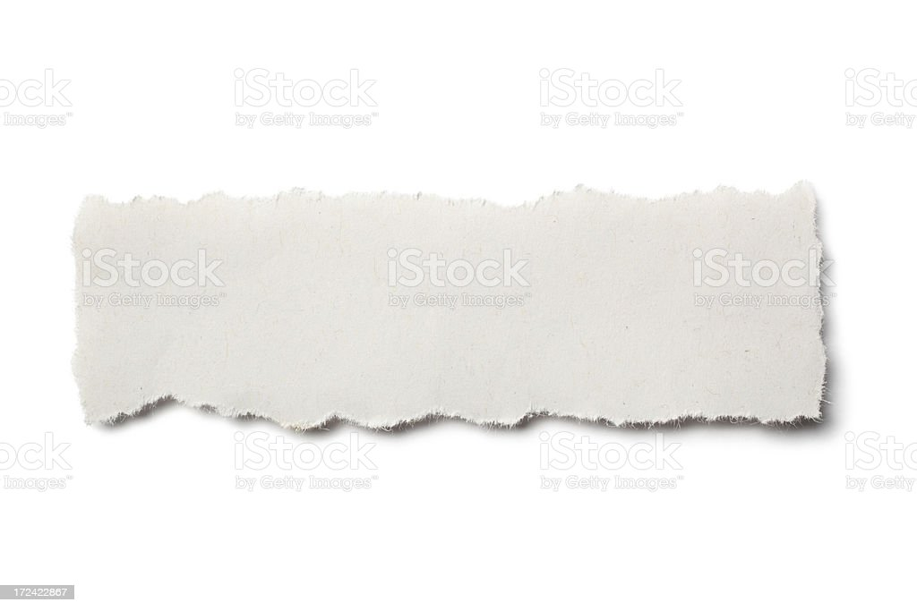 Torn Piece of Newpaper royalty-free stock photo