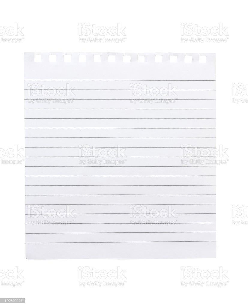 torn piece of notebook paper royalty-free stock photo