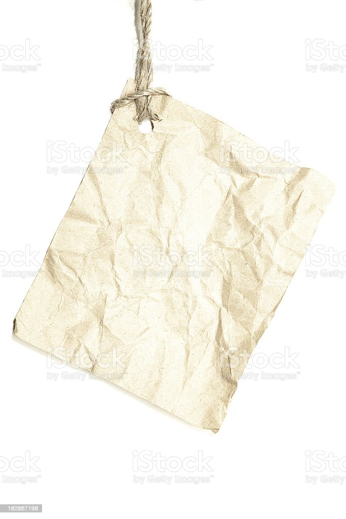 Torn piece of old paper. royalty-free stock photo
