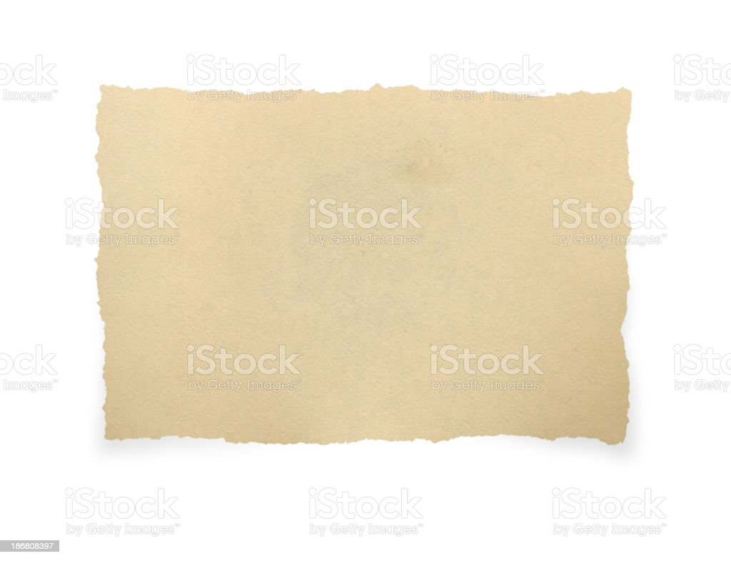 Torn Piece of Old Paper stock photo