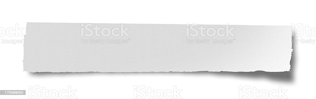 Torn Piece of Paper stock photo