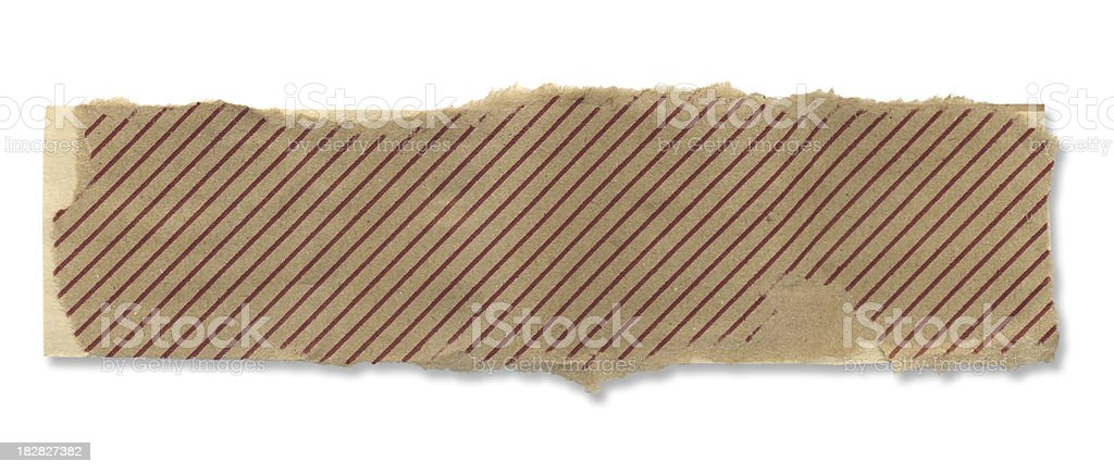 Torn Piece of Striped Paper royalty-free stock photo