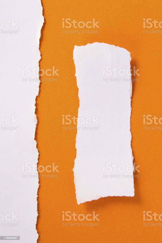 Torn Pieces of Paper royalty-free stock photo