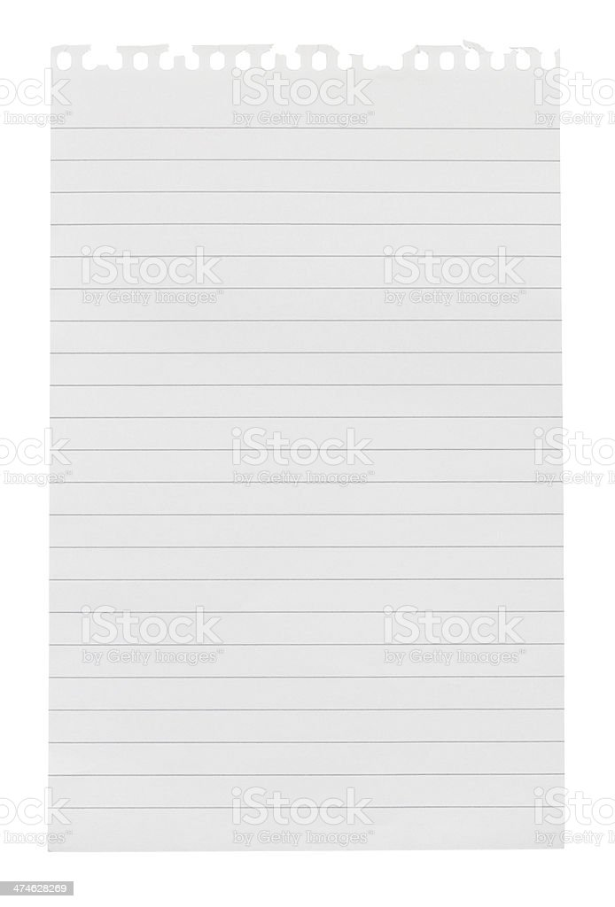 Torn sheet of note paper stock photo