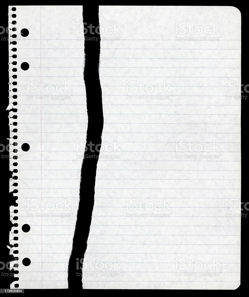 Torn Sheet of Paper From Spiral Notebook royalty-free stock photo