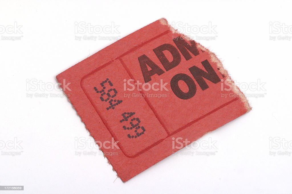 Torn ticket 2 royalty-free stock photo