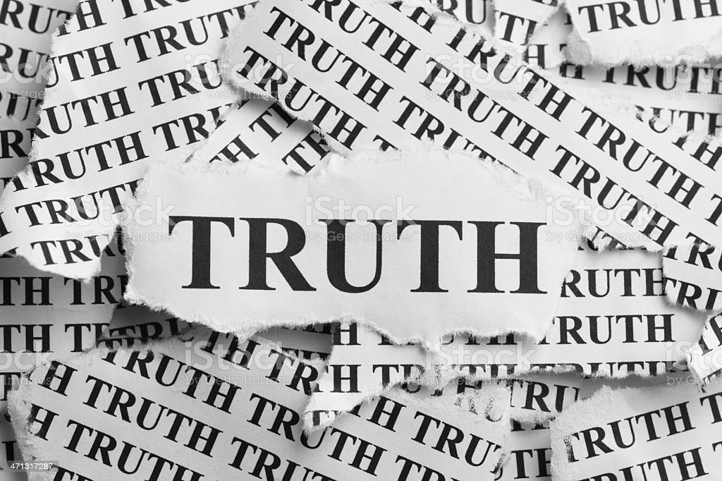 Torn Truth royalty-free stock photo