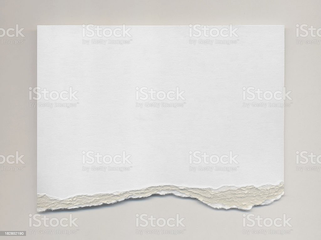 Torn Watercolor Paper royalty-free stock photo