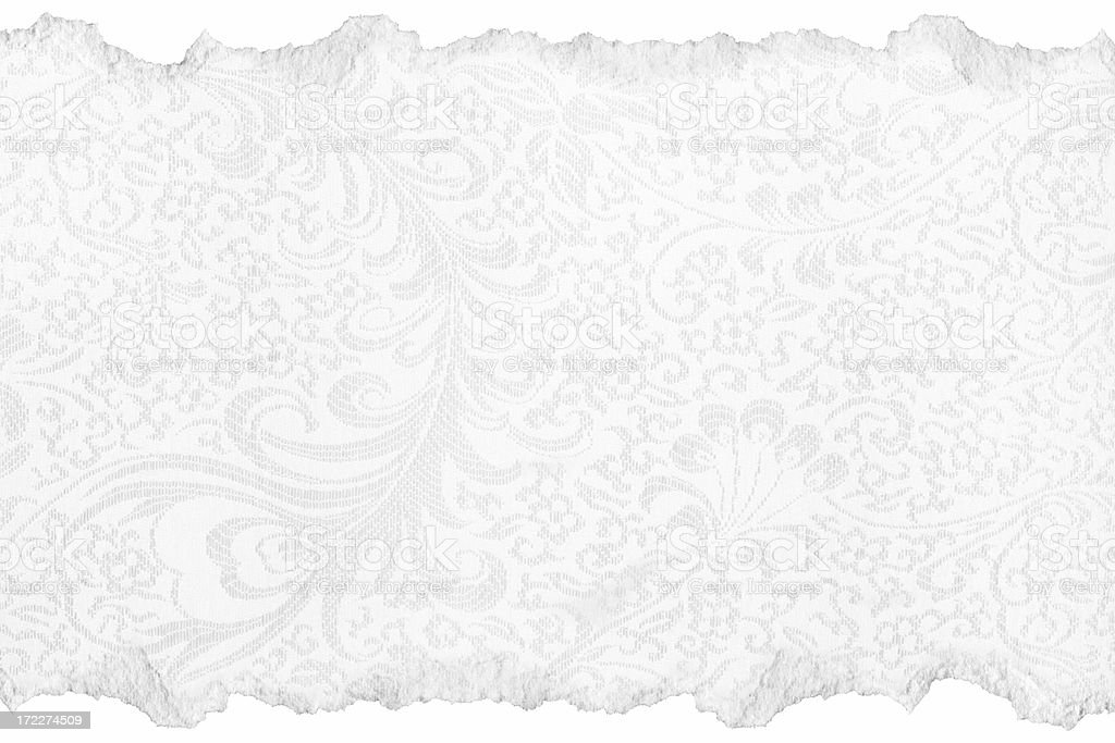 Torn Wedding Paper Texture royalty-free stock photo