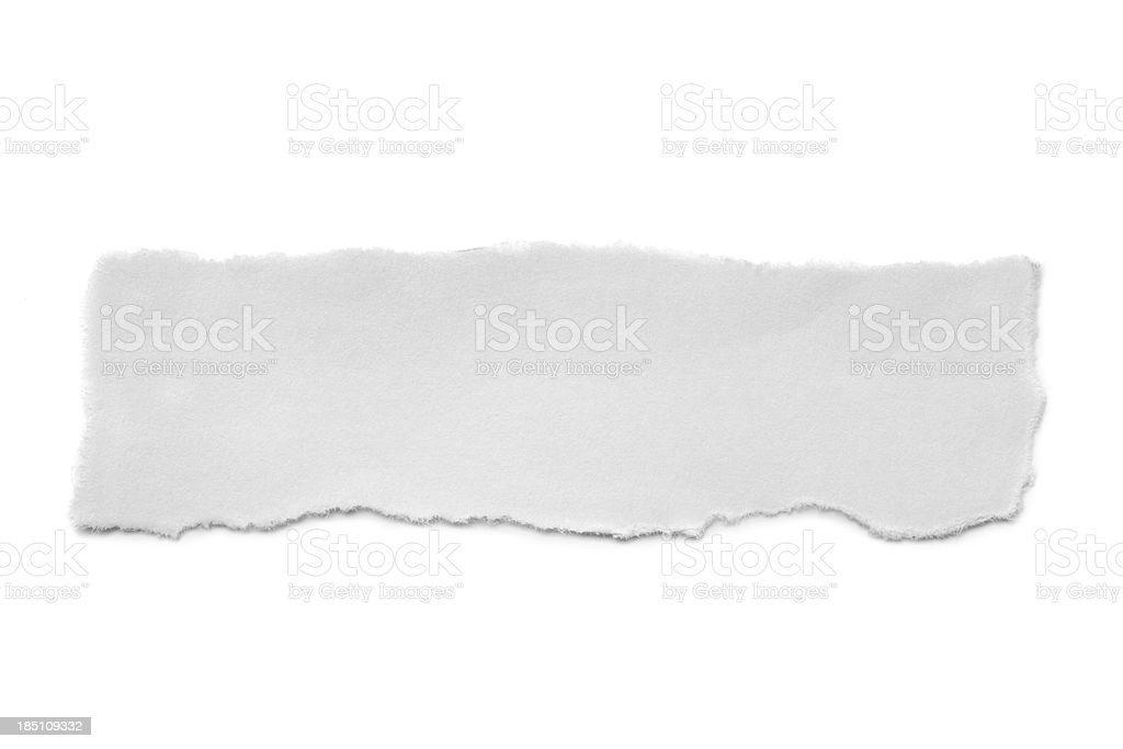 torn white paper stock photo