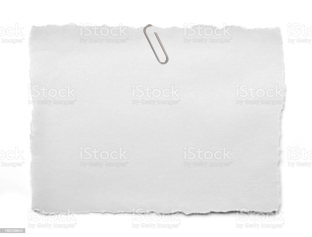 torn white paper royalty-free stock photo